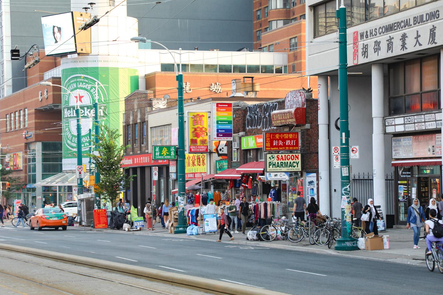 Chinatown, de Chinese wijk van Toronto