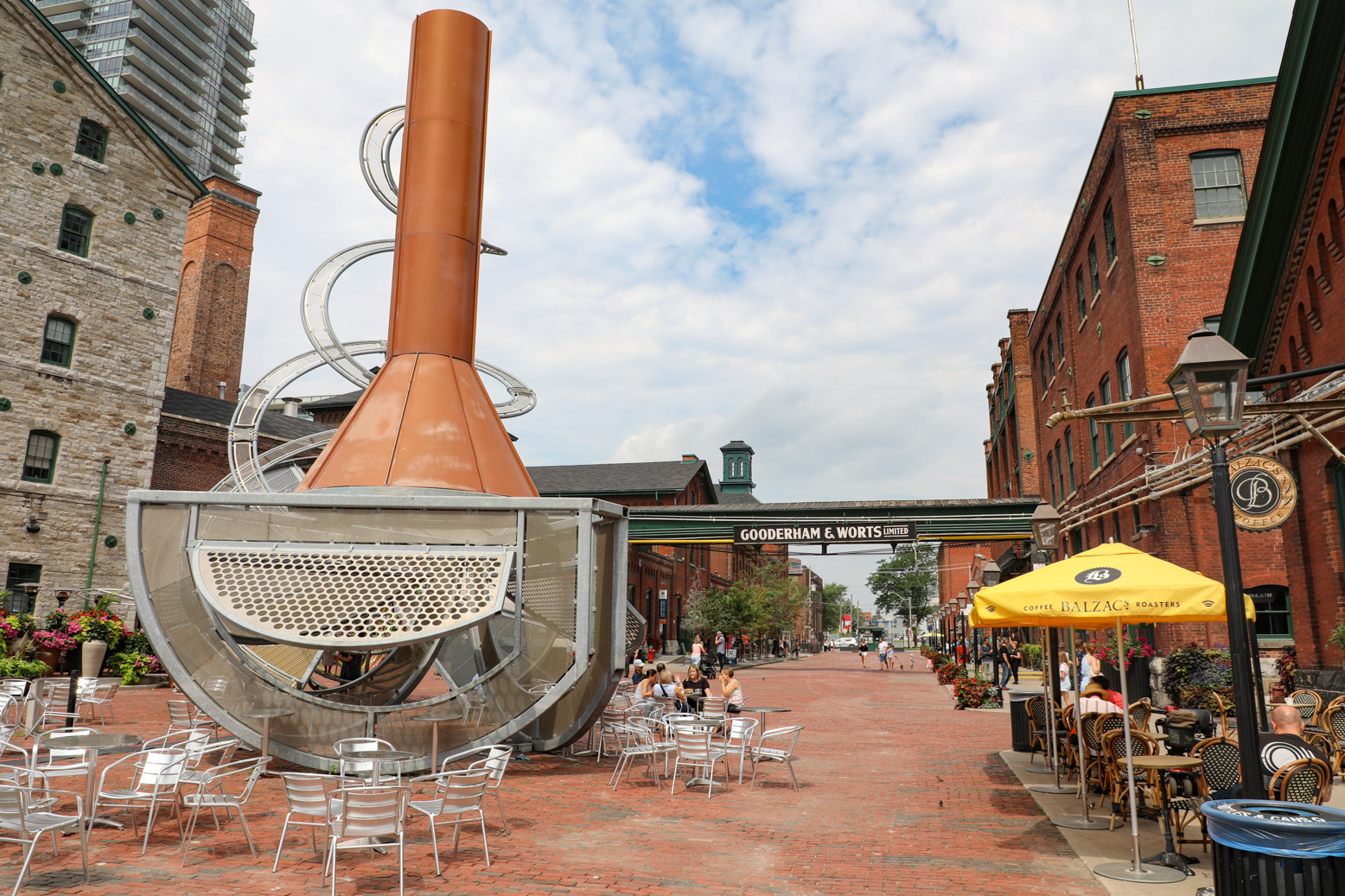 Het Distillery District is een plaatje om te zien.