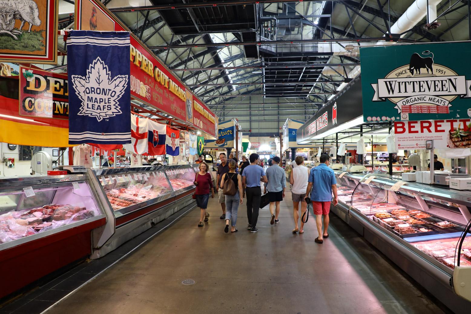 De beroemde St. Lawrence Market in Toronto