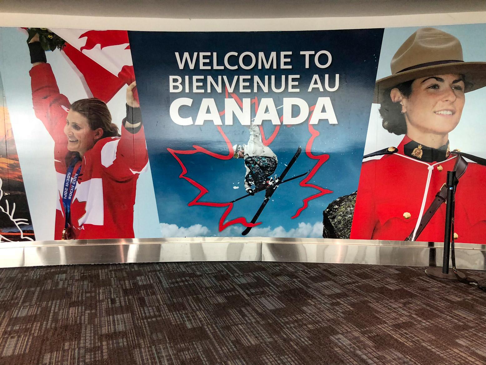 Op Toronto Pearson International Airport heet men je welkom in Canada